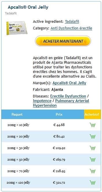 Médicaments Bon Marché * Apcalis jelly En France * Bonus Pill avec chaque commande