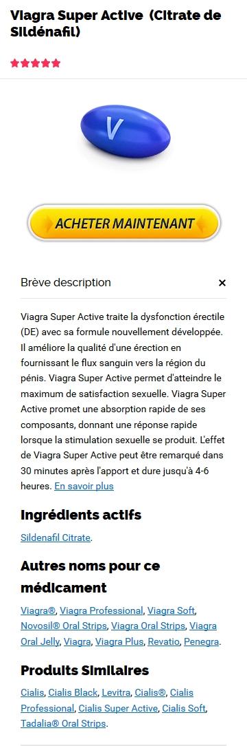 Achat Viagra Super Active 100 mg Meilleure offre sur Generics